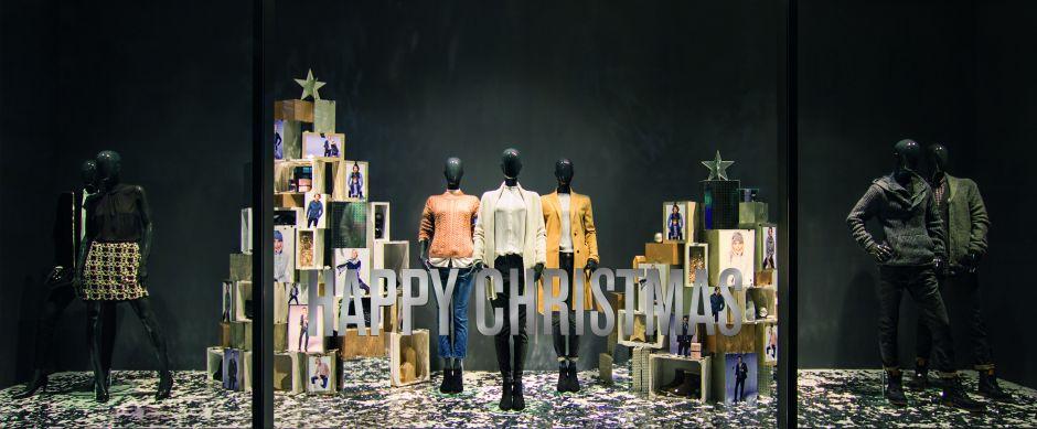 schaufenster weihnachten bei s oliver. Black Bedroom Furniture Sets. Home Design Ideas
