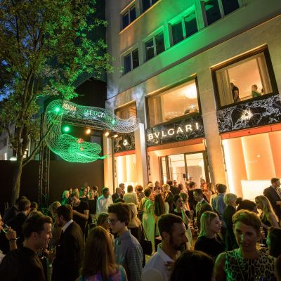 Bulgari in Frankfurt: Red Carpet vor dem neuen Store im Peter Marino Design