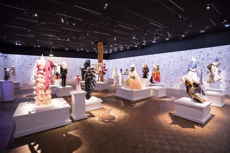 Installation view of Viktor&Rolf: Fashion Artists 25 Years at Kunsthal Rotterdam