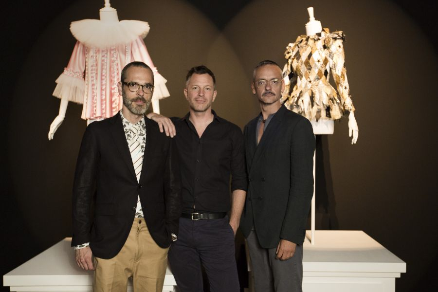 Viktor&Rolf with curator Thierry Maxime-Loriot,