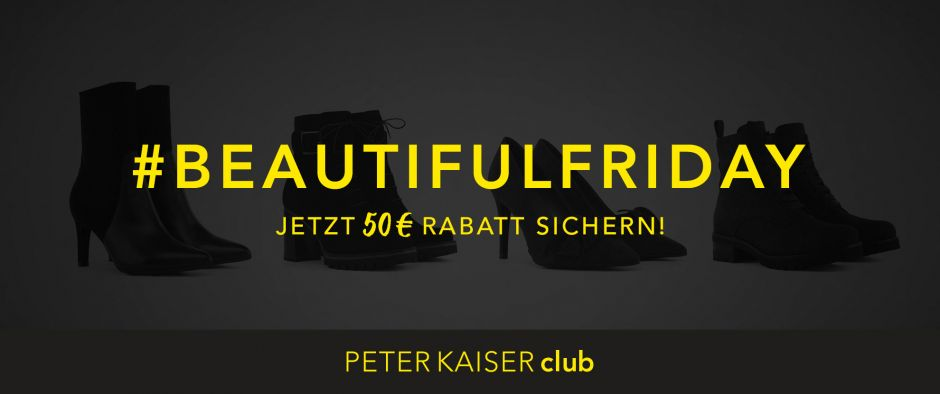 Black is Beautiful. Bei Peter Kaiser gibt's am Beautiful Friday Rabatte.