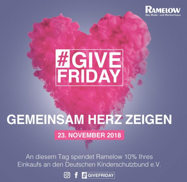 Charity statt Rabatte: Modehändler Ramelow spendet am Black Friday.