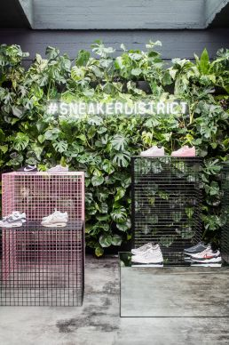 Auf Gittern. Sneaker District in Antwerpen