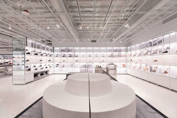 All white. Nike in New York City