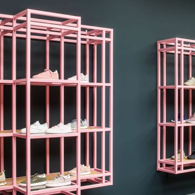Die Farbe macht's. Sneaker District in Antwerpen