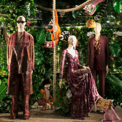 Best Window Display: Bei Etro im Dschungel