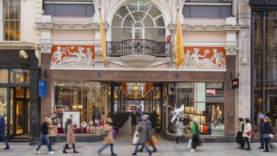 Bond Street in London : Hohe Konzentration der Luxusretailer