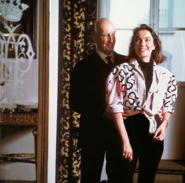Marquis Emilio Pucci and Laudomia in Palazzo Pucci, Florence, 1986.