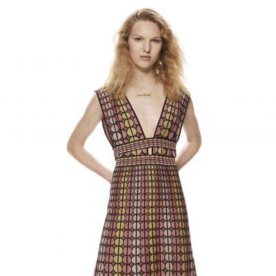 Lurex-Dress mit Jacquard-Design von M Missoni