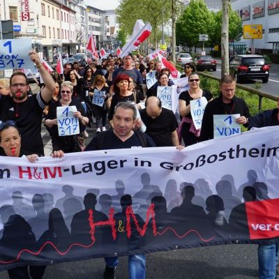 Protestaktion in Aschaffenburg