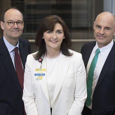 Neue Partner: Sainsbury-CEO Mike Coupe, Walmart International-CEO Judith McKenna und Asda-CEO Roger Burnley.
