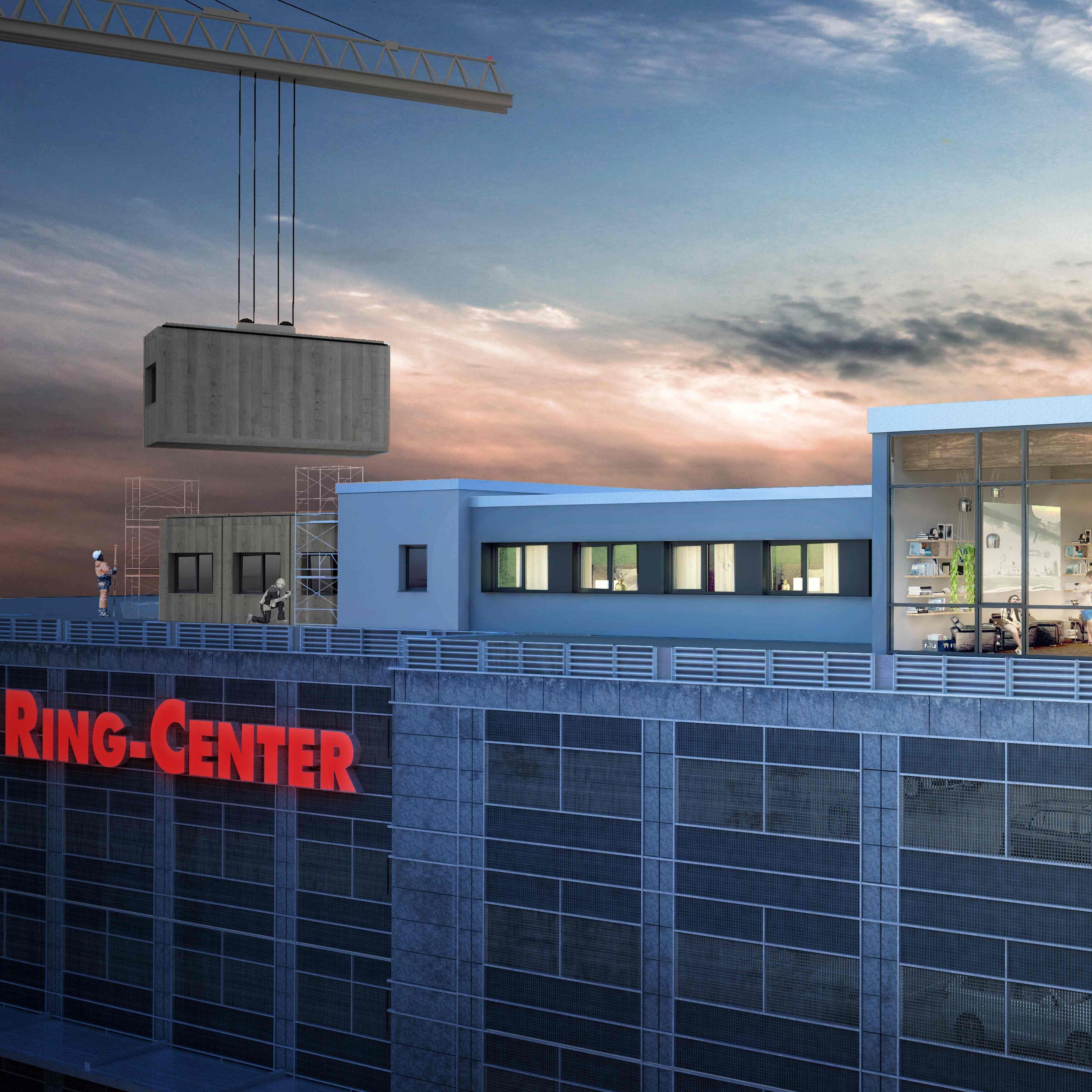 standorte berlin auf dem ring center 2 entsteht ein hotel. Black Bedroom Furniture Sets. Home Design Ideas
