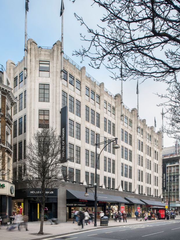 House of Fraser-Filiale in London.