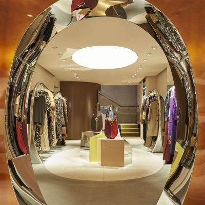 Oval als Kernelement im New Yorker Marni-Store.