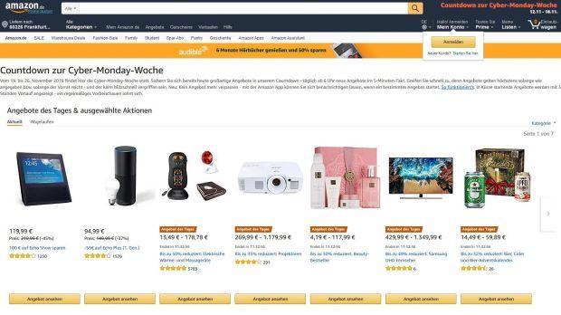 E Commerce: Amazon kündigt Cyber Monday Woche an