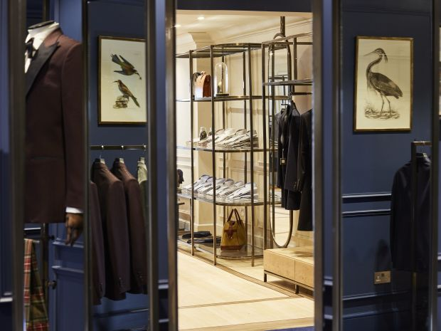 Chester Barrie-Store in London, Interieur