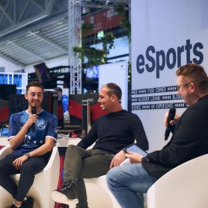 David Tews, Head of Marketing Intersport, bei der ISPO in München.