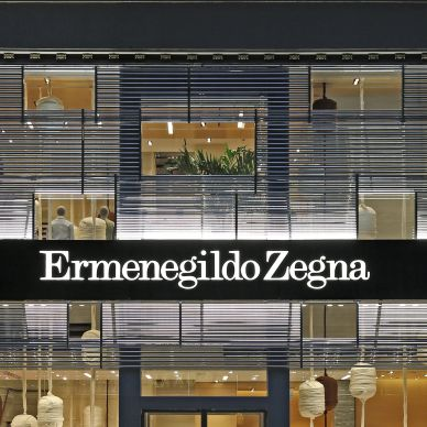 Luxusmode-Markt  Zegna  Glitzerfassade in Manhattan 707a3d7d8e0