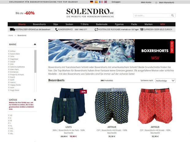quality design 83a34 a02b9 E-Commerce: Französischer Wäsche-Onliner Solendro startet ...