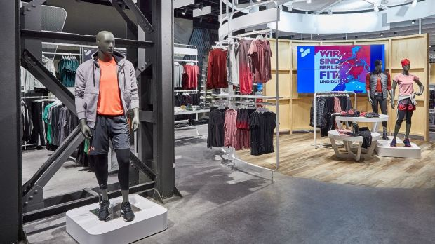 Der World of Cyberobics-Store von Intersport in Berlin