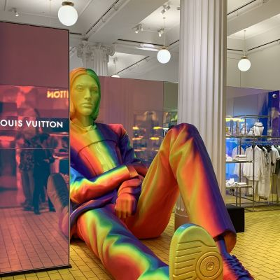 Louis Vuitton bei Selfridges in London während der Fashion Week im Februar 2019