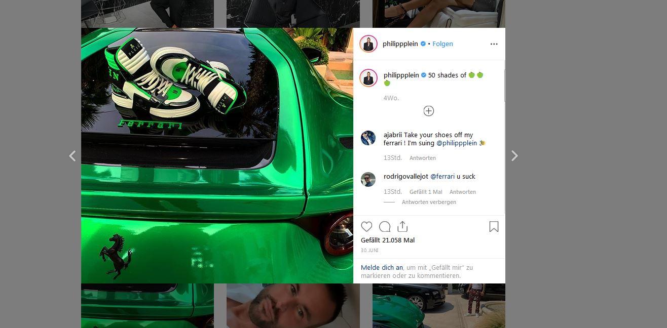 Designer Mobilisiert Seine Follower So Wehrt Sich Philipp Plein Gegen Ferrari