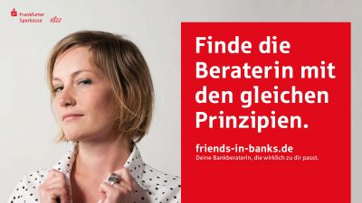 Motiv aus der Kampagne Friends in Banks