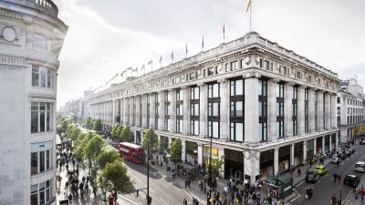Department Store Selfridges in der Oxford-Street & Duke Street in London
