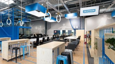 Das neu gestaltete Decathlon-Headquarter in Plochingen