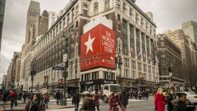 Der Macy's Flagship-Store am herald Sqaure in New York.
