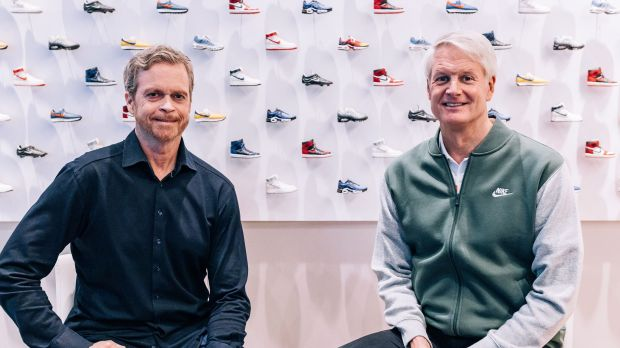 Mark Parker (links) übergibt den CEO-Posten bei Nike an John Donahoe