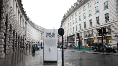 Thank you, #staysafe: Die Londoner Regent Street in Zeiten von Social Distancing.