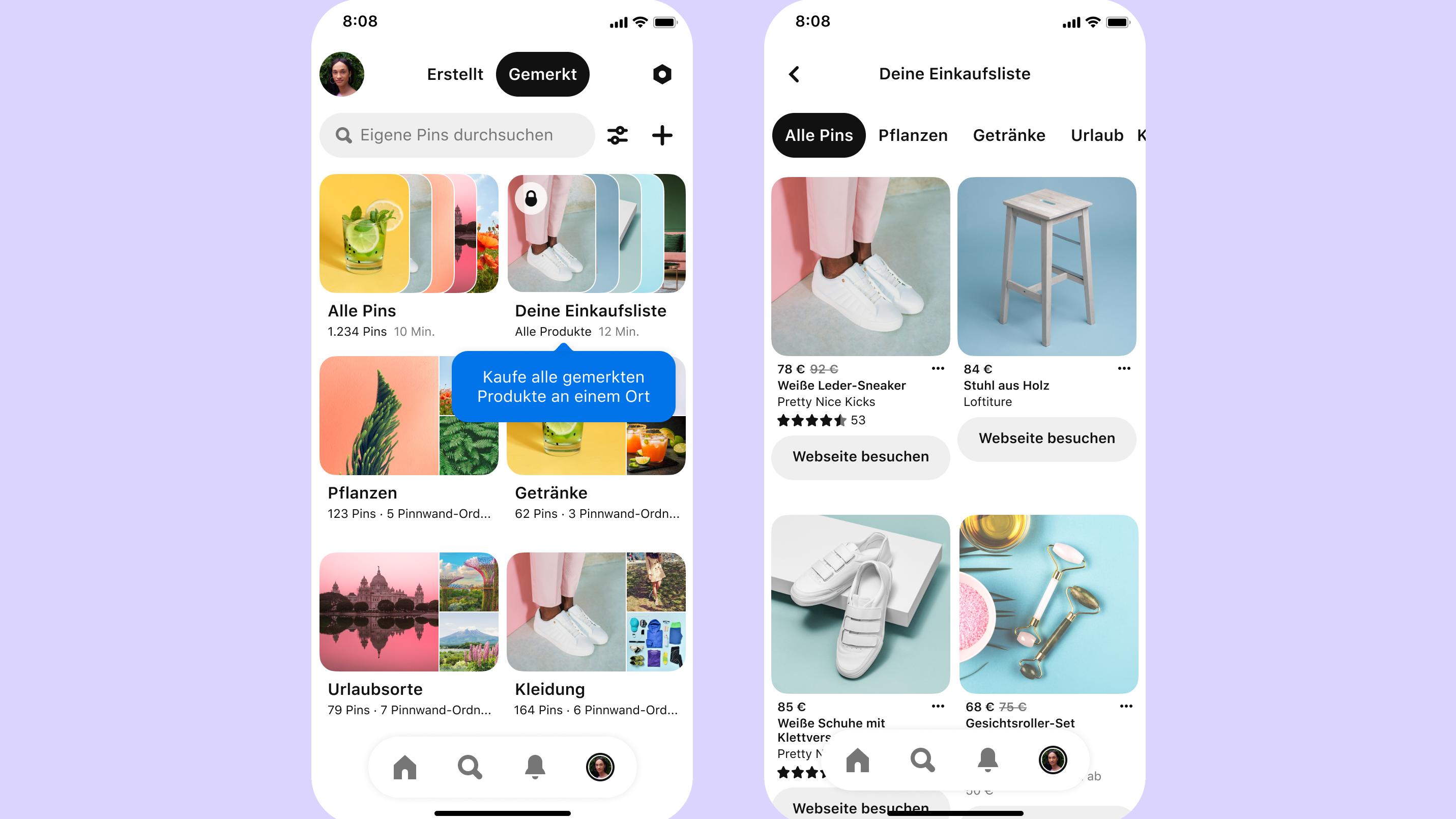 Vielzahl neuer Features Pinterest gibt Gas in Sachen Shopping