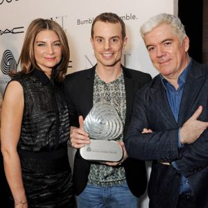 Natalie Massenet, Christian Wijnants und Tim Blanks (Fotos: Woolmark)