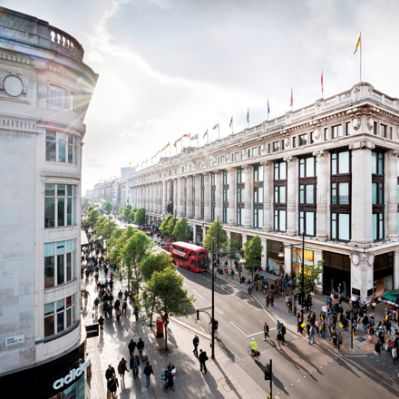 Department Store Selfridges in London