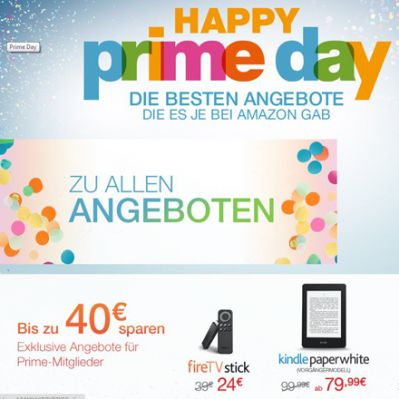 Prime Day (Screenshot Amazon-Website)
