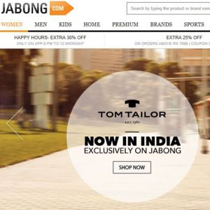 Tom Tailor bei Jabong.com (Screenshot Jabong)