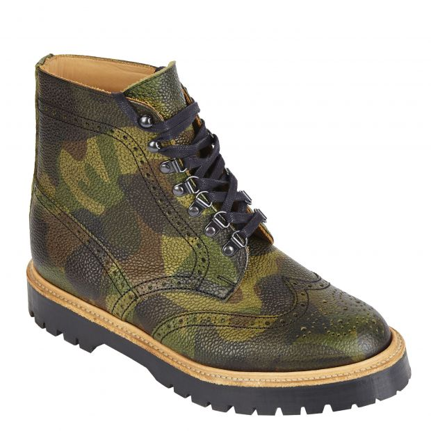 Asos Brogue Boot in Camouflage-Leder