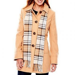 St. John's Bay Wool-Blend Scarf Coat von JC Penney