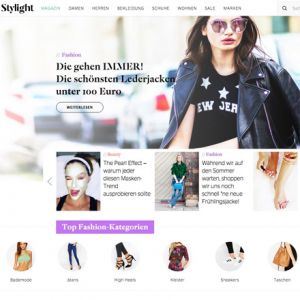 Stylight Website (Screenshot)
