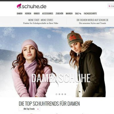 Website Schuhe.de (Screenshot)