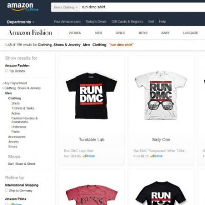Run DMC bei Amazon