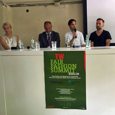 Talkrunde beim TW Fair Fashion Summit in Berlin.