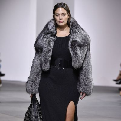 Plus-Size-Model Ashley Graham in der H/W 17-Show von Michael Kors in New York